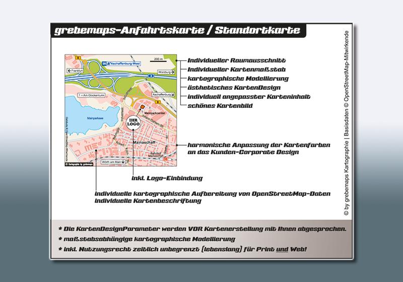 Anfahrtsskizzen erstellen, Wegbeschreibung erstellen, Individuelle Anfahrtsskizze, Anfahrtsskizze erstellen, Anfahrtsplan, Lageplan erstellen, KartenDesign, Kartografie, Kartenerstellung